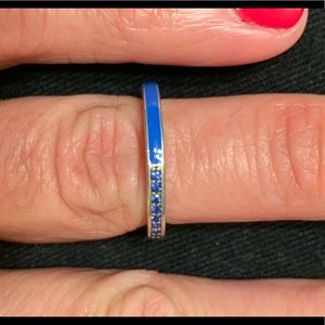 Pandora Royal Blue Enamel and CZ Stackable Ring